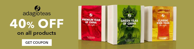 Adagio Teas 40% off Coupon & promo codes