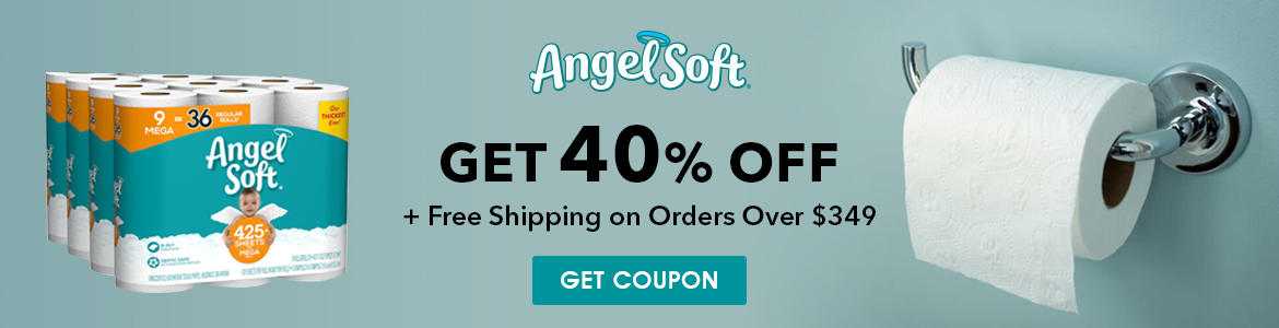 Angel Soft Get 40% Off free shipping on Order Over $349