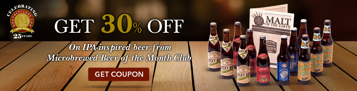 Summer Sale! Get $30 off On IPA-inspired beer from Microbrewed Beer of the Month Club