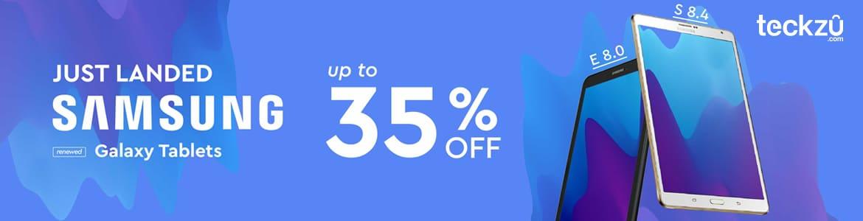 Teckzu upto 35% off on Samsung Galaxy Tablets